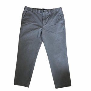 Izod pants light gray mens flat front straight 42